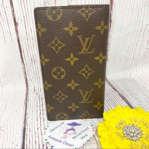 Louis Vuitton Monogram Check Book Holder